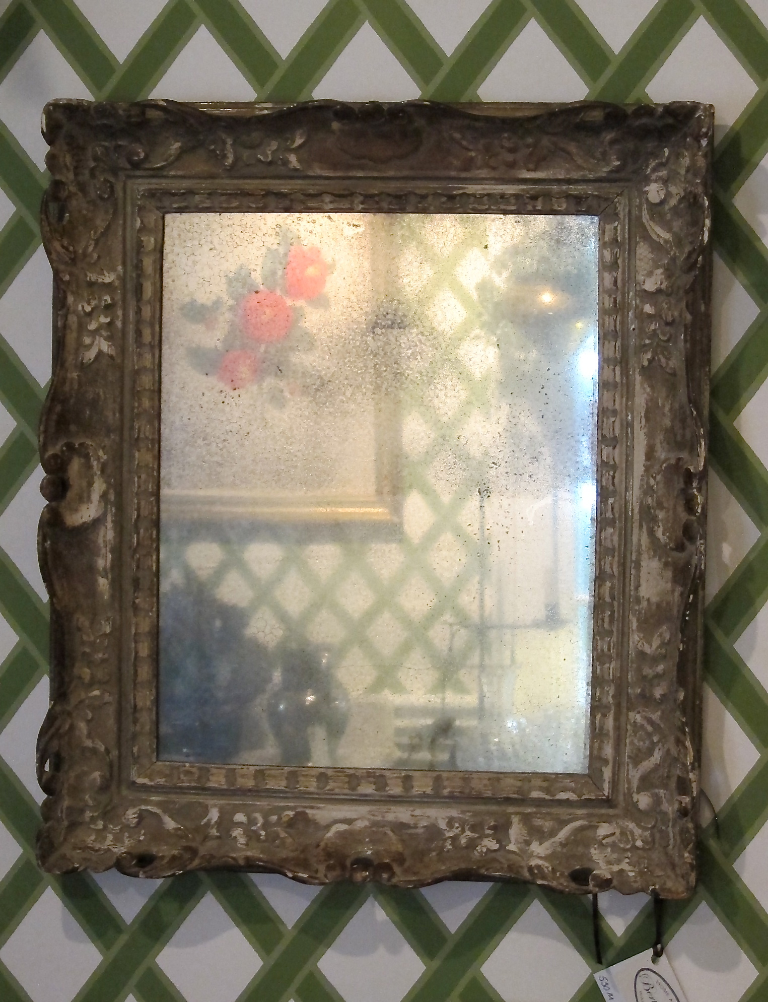 Carved Wood Gesso Italian Mirror With Antique Glass Bertolinico Com
