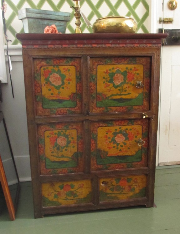 19th C Chinese Painted Cabinet