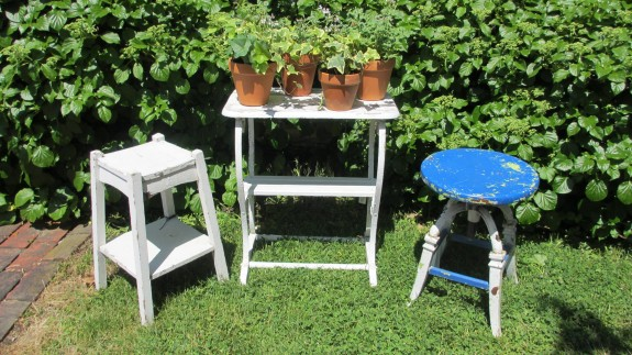 Plant Stand c1900, American Garden Stand c1900, American Stool c1890