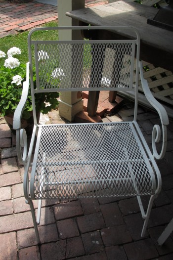Set of 4 Salterini Metal Arm Chairs for Patio