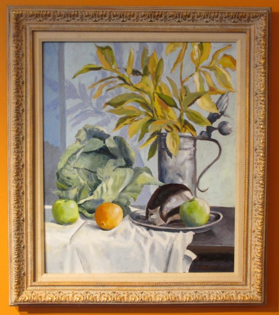 Still Life with Cabbage, Oil on Canvas