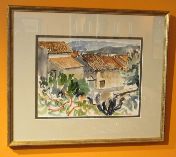 Houses in Seillons, Watercolor