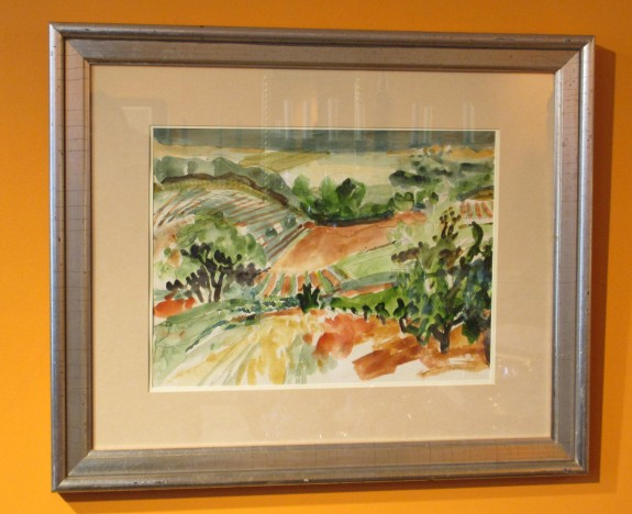 Vineyard near Seillons, France, Watercolor