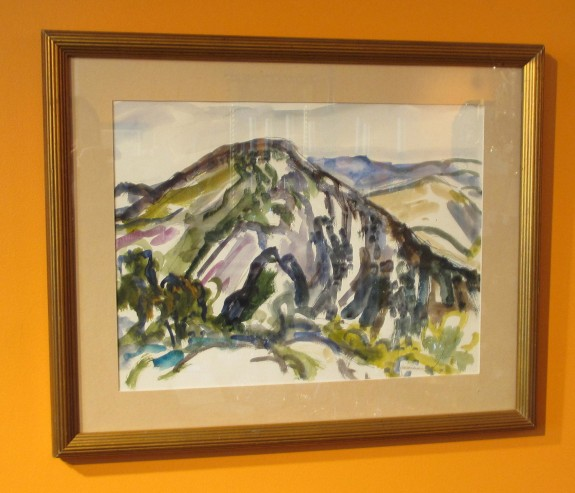 Mountain Near Brignoles, France, Watercolor