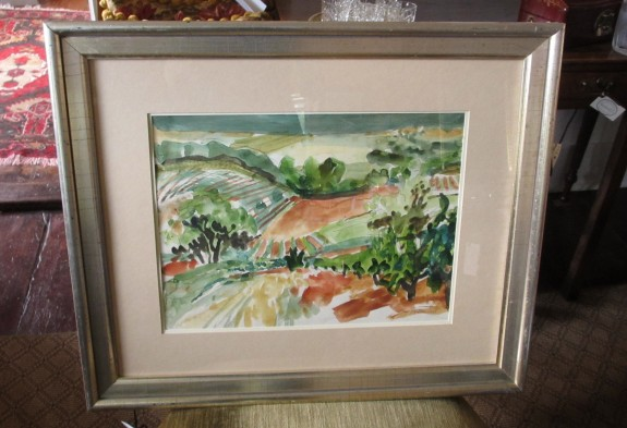 Watercolor - Vineyards Near Seillons France by Bill Bartsch