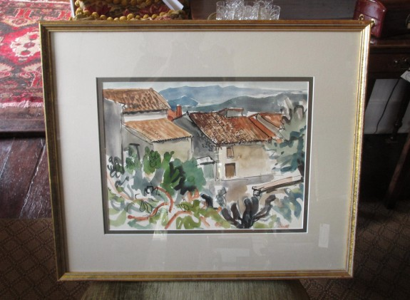 Watercolor, Houses in Seillon, France by Bill Bartsch