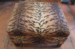 Antique and Vintage Footstools in Fun Safari Prints