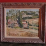 Bartsch Landscape Oil on Canvas, Umbrian Farm