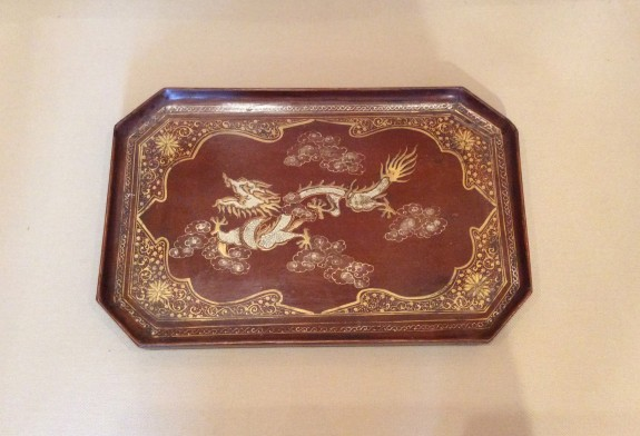 Chinese Decorated Lacquer Tray