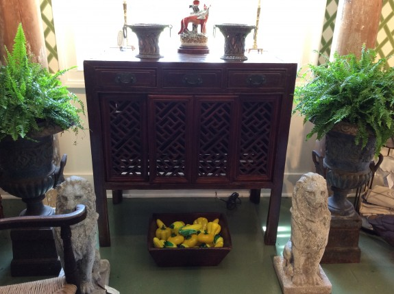 Bertolini asian furniture - 19th C Chinese Carved Mt. Ash Cabinet