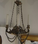 Continental Brass Chandelier, c 1840