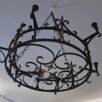 Black Iron Vintage Chandelier