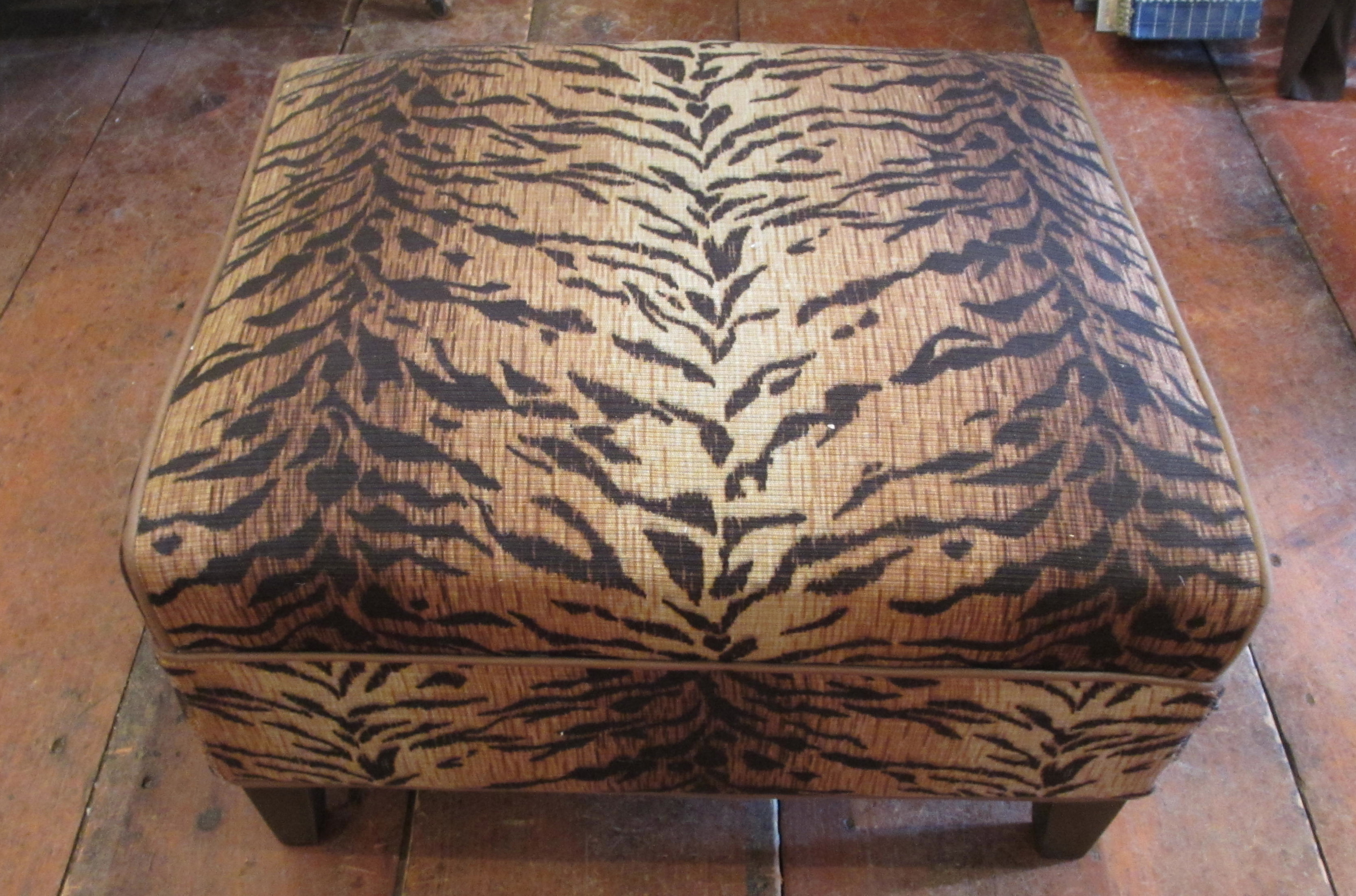 C 1930s Upholstered Stool