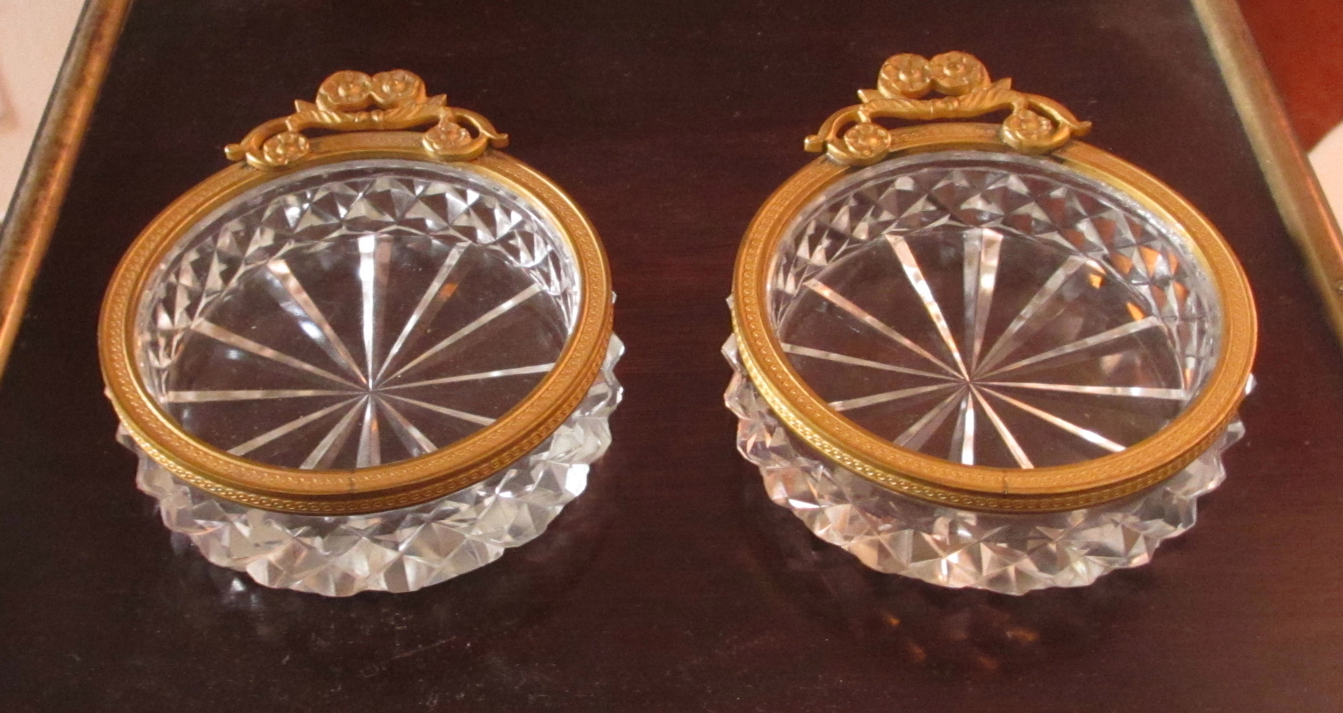 19th C French Crystal Pin Trays (6)